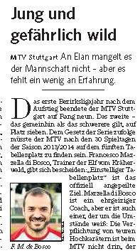 MTV Stuttgart 1843 e.V. - Jung und gefährlich wild