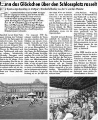 MTV Stuttgart 1843 e.V. - Das Glöckchen rasselt über den Sportplatz