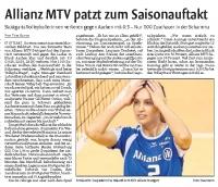MTV Stuttgart 1843 e.V. - Allianz MTV mit Auftaktniederlage