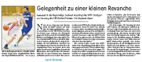MTV Stuttgart 1843 e.V. - Gelegenheit zur Revanche