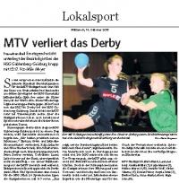MTV Stuttgart 1843 e.V. - MTV verliert das Derby