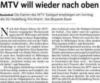 MTV Stuttgart 1843 e.V. - MTV will wieder nach oben