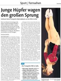 MTV Stuttgart 1843 e.V. - Leonie Adam startet bei Trampolin-WM