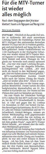MTV Stuttgart 1843 e.V. - F�r die MTV-Turner ist wieder alles m�glich