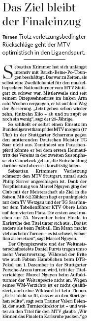 MTV Stuttgart 1843 e.V. - Am 26.10 brennt die Scharrena