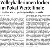 MTV Stuttgart 1843 e.V. - Volleyballerinnen im Pokalfinale