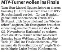 MTV Stuttgart 1843 e.V. - MTV-Turner wollen ins Finale