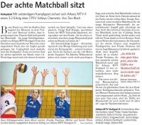 MTV Stuttgart 1843 e.V. - Der achte Matchball sitzt