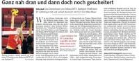 MTV Stuttgart 1843 e.V. - Ganz nah dran und dann doch noch gescheitert