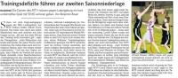 MTV Stuttgart 1843 e.V. - Trainingsdefizite f�hren zu Saisonniederlage
