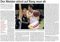 MTV Stuttgart 1843 e.V. - Der Meister st�rzt auf Rang neun ab