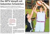 MTV Stuttgart 1843 e.V. - Der MTV kämpft mit bekannten Schwächen