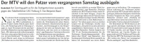 MTV Stuttgart 1843 e.V. - Der MTV will Patzer ausb�geln