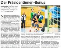 MTV Stuttgart 1843 e.V. - Der Präsidentinnen-Bonus