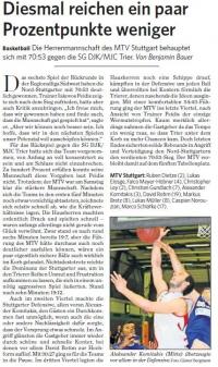 MTV Stuttgart 1843 e.V. - Ein Paar Prozentpunkte weniger reichen