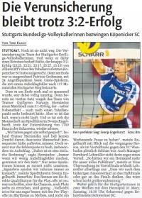 MTV Stuttgart 1843 e.V. - Die Verunsicherung bleibt trotz 3:2-Erfolg