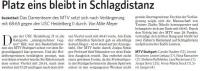 MTV Stuttgart 1843 e.V. - Platz eins bleibt in Schlagdistanz