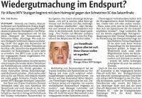 MTV Stuttgart 1843 e.V. - Wiedergutmachung im Endspurt?