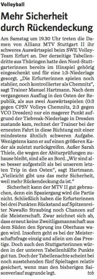 MTV Stuttgart 1843 e.V. - Mehr Sicherheit durch Rückendeckung