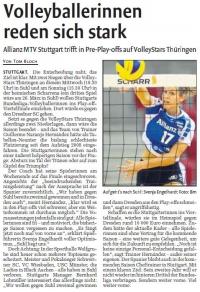 MTV Stuttgart 1843 e.V. - Volleyballerinnen reden sich stark