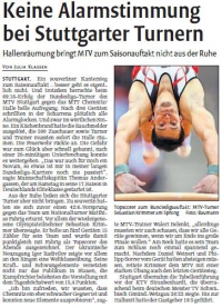 MTV Stuttgart 1843 e.V. - Keine Alarmstimmung bei Stuttgarter Turnern
