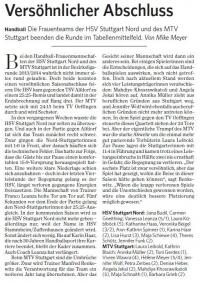 MTV Stuttgart 1843 e.V. - Versöhnlicher Abschluss