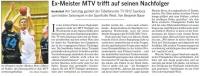 MTV Stuttgart 1843 e.V. - Ex-Meister MTV trifft auf seinen Nachfolger
