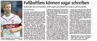 MTV Stuttgart 1843 e.V. - Fußballfans können sogar schreiben