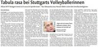 MTV Stuttgart 1843 e.V. - Tabula rasa bei Stuttgarts Volleyballerinnen