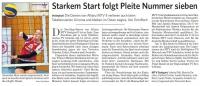 MTV Stuttgart 1843 e.V. - Starkem Start folgt Pleite Nummer sieben
