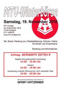 MTV Stuttgart 1843 e.V. - MTV Winterb�rse Samstag 14.11.2015