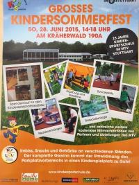 MTV Stuttgart 1843 e.V. - Gro�es Kindersommerfest am 28. Juni beim MTV