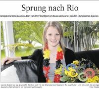 MTV Stuttgart 1843 e.V. - Leonie Adam ist bereit f�r Rio�