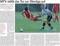 MTV Stuttgart 1843 e.V. - MTV stößt das Tor zur Oberliga auf