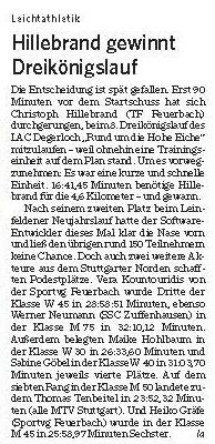 MTV Stuttgart 1843 e.V. - Dreikönigslauf