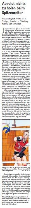 MTV Stuttgart 1843 e.V. - Absolut nichts zu holen beim Spitzenreiter