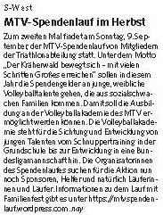 MTV Stuttgart 1843 e.V. - MTV-Spendenlauf im Herbst