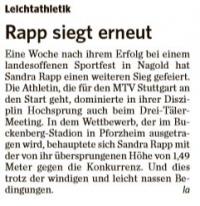 MTV Stuttgart 1843 e.V. - Rapp siegt erneut