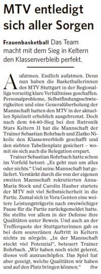 MTV Stuttgart 1843 e.V. - Basketball