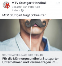 MTV Stuttgart 1843 e.V. - MTV Stuttgart tr�gt Schnauzer