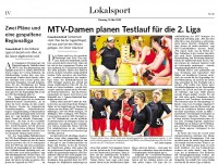 MTV Stuttgart 1843 e.V. - Testlauf für die 2.Liga