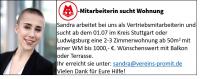 MTV Stuttgart 1843 e.V. - MTV- Mitarbeiterin sucht Wohnung