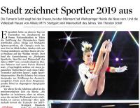 MTV Stuttgart 1843 e.V. - Stadt zeichnet Sportler des Jahres aus