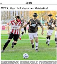 MTV Stuttgart 1843 e.V. - MTV wird Deutscher Meister