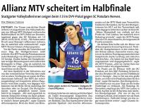 MTV Stuttgart 1843 e.V. - Im Halbfinale gescheitert