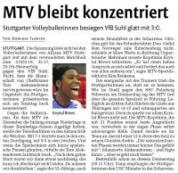MTV Stuttgart 1843 e.V. - Sieg gegen Suhl