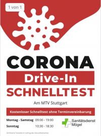 MTV Stuttgart 1843 e.V. - Corona Drive-In Schnelltest