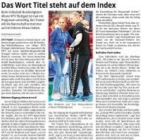 MTV Stuttgart 1843 e.V. - Das Wort Titel steht auf dem Index