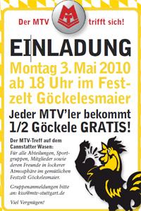 MTV Stuttgart 1843 e.V. - Der MTV Stuttgart auf dem Frühlingsfest